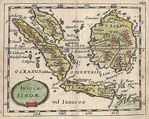 """Kupferstich- Karte, aus Duval, """"Insulae Sindae"""".: Indonesien ( Indonesia ):"""