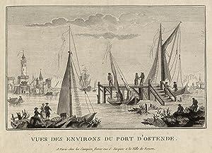 "Teilansicht, Hafen, ""Vues des environs du port: OSTENDE:"