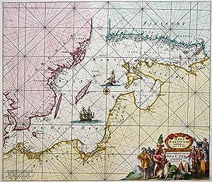 """Kupferstich- Karte, b. F. de Wit, """"Mare Balticum. Nieuwe Pascaert van de Oost Zee"""".: Ostsee..."""