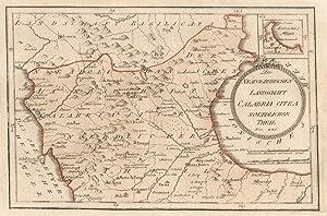 """Kupferstich- Karte, b. Fr. J. Reilly, """"Die neapolitanische Landschaft Calabria Citra ..."""