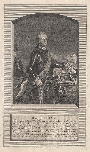 Dessau 31. 10. 1712 - 11. 04.: MORITZ (1712-1760) Prinz