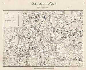 """Umgebungskarte, Darstellung der """"Schlacht bei Sohr, am: SOHR/b. Trautenau:"""