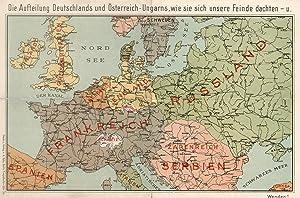 Humoristische Karte Von Europa 1914.Karikatur Karten Zvab