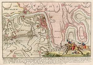 Plan von Chotim und der umliegenden Gegend 1788. .: Chotyn / Dnister: Umgebungskarte: