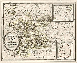 """Kupferstich- Karte, b. Reilly, """"Des Fürstenthums Kalenberg Südliche Aemter mit der freyen ..."""