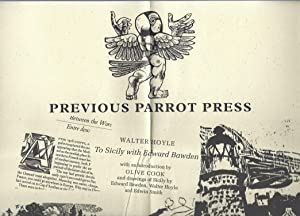 Previous Parrot Press: Five Recent Books from the Press Giving an Idea of the Variety of Books an...