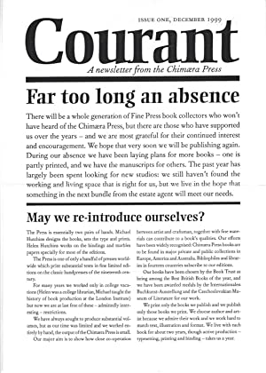Courant: A Newsletter from the Chimaera Press