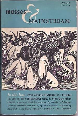 Masses & Mainstream, Vol. 1, Number 6,: Sillen, Samuel, ed.