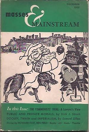 Masses & Mainstream, Vol. 1, Number 10,: Sillen, Samuel, ed.