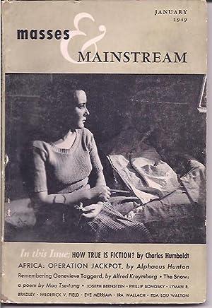Masses & Mainstream, Vol. 2, Number 1,: Sillen, Samuel, ed.