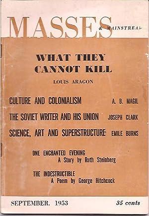 Masses & Mainstream, Vol. 6, Number 9, September 1953: Sillen, Samuel, ed.