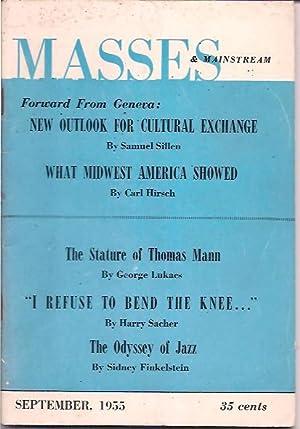 Masses & Mainstream, Vol. 8, Number 9, September 1955: Sillen, Samuel, ed.