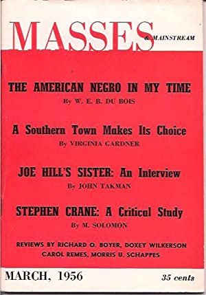 Masses & Mainstream, Vol. 9, Number 2, March 1956: Sillen, Samuel and Howard, Milton, eds.