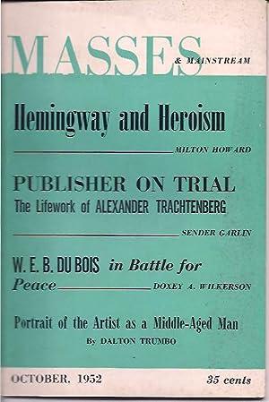 Masses & Mainstream, Vol 5, No. 10, October 1952: Sillen, Samuel, ed.
