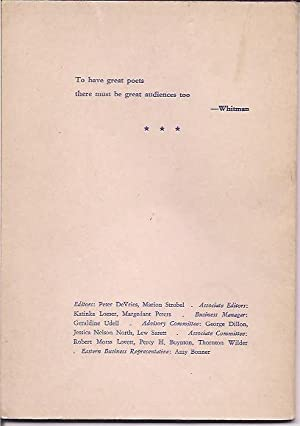 Poetry; A Magazine of Verse, Vol. LXV, No. 11: DeVries, Peter and Marion Strobel, eds.