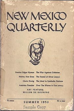 New Mexico Quarterly, Vol. 23, No. 2,: Lash, Kenneth, ed.