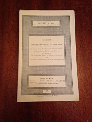 Catalogue of Fine Engravings and Etchings - Auction April 10 and 11, 1951.: Sotheby and Company