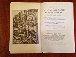 Catalogue of Engravings By Old Masters and Old Drawings - Auction March 20, 1924.: Sotheby, ...