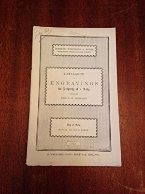 Catalogue of Engraving, Mostly Portraits - Auction March 10, 1913.: Sotheby, Wilkinson and Hodge
