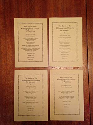 Papers of the Bibliographical Society of America, Volume 53 (Fifty Three) COMPLETE, 1959: ...