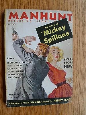 Manhunt Detective Story Monthly December 1954: Kane, Henry, Craig Rice, Frank kane, Jonathan Craig,...