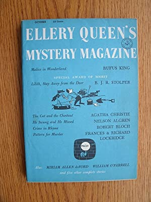 Ellery Queen's Mystery Magazine October 1957: Stolper, B.J.R. /