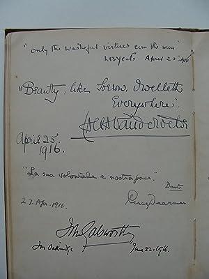 W B Yeats: Autograph Quotation Signed: YEATS, W B
