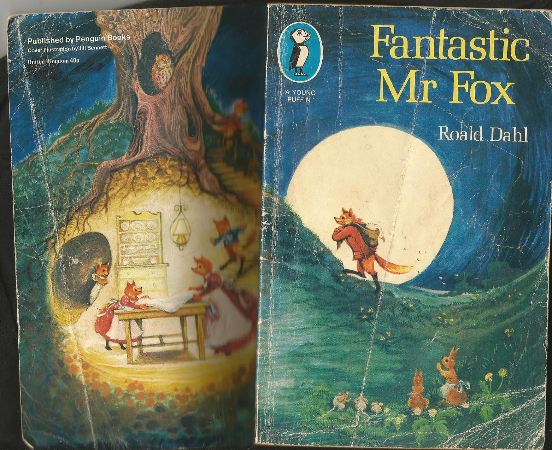 The Fantastic Mr Fox By Dahl Roald Good Wrapround Pictorial Card 1977 Matilda Mary S Books