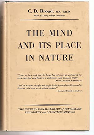 The Mind and its Place in Nature