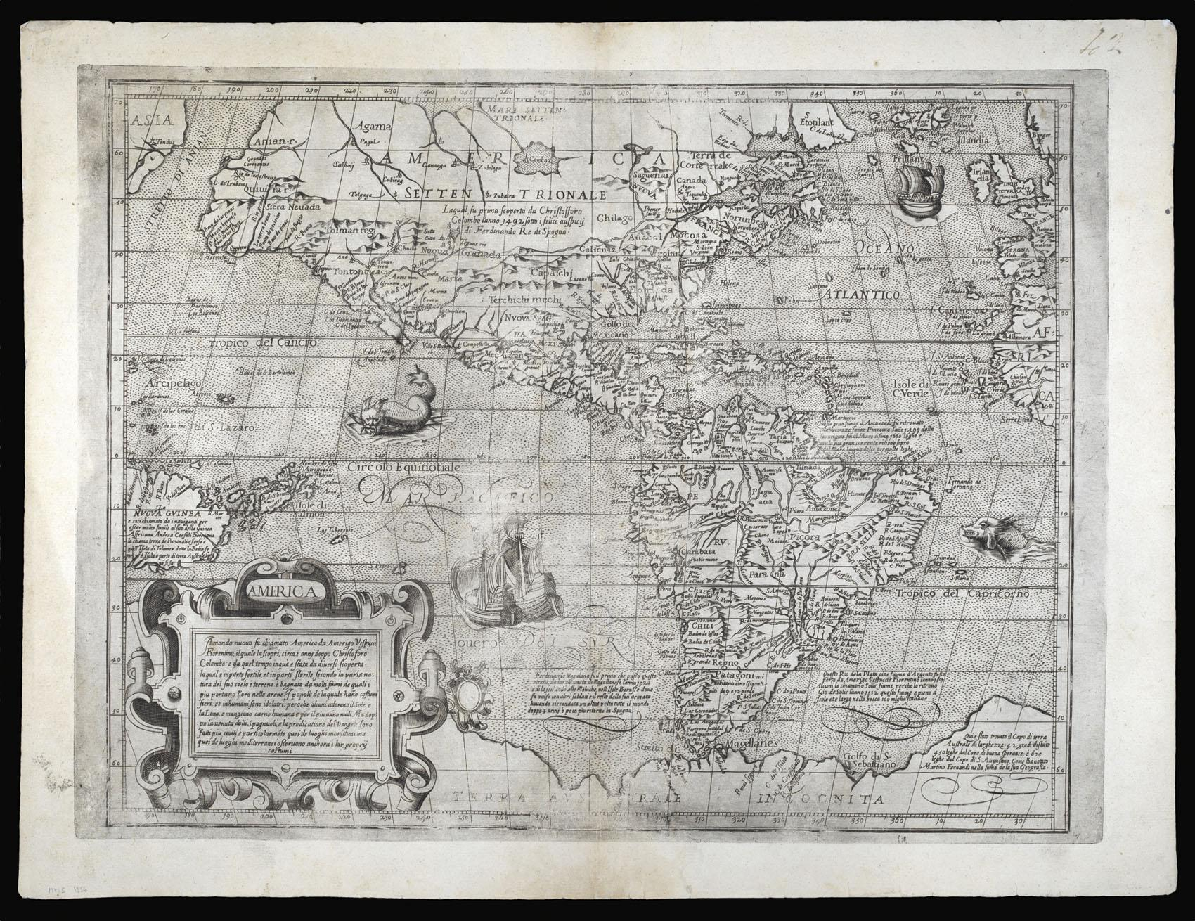 Amerigo Vespucci Map Of America.America Il Mondo Nuovo Su Chiamato America Da Amerigo Vespucci