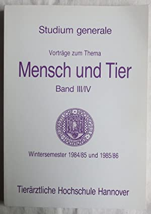 Tierärztliche Hochschule Hannover: Studium generale : Vorträge: Arendt, D. ;