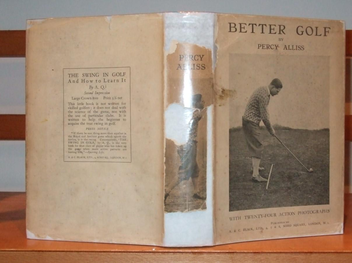Better Golf with an Introduction By George W. Greenwood Alliss Percy Very Good