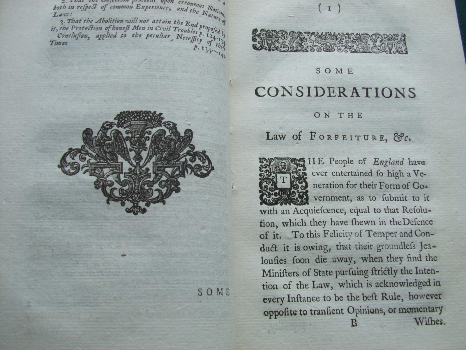 Early Book TRYALS FOR HIGH TREASON Other Crimes~Vol IV Browne London 1720