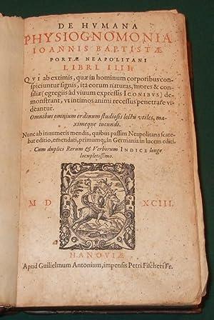 De humana physiognomonia Joannis Baptistae portae neapolitani: Porta, Giambattista Della