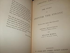 Grettis Saga. The Story of Grettir the: Magnusson Eirikr &