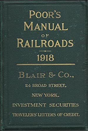 Poor's Manual of Railroads 1918