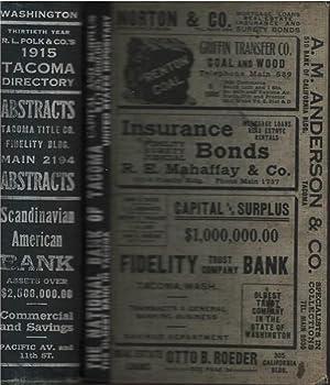 Polk's Tacoma Directory 1915: R.L. Polk
