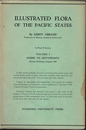 Illustrated Flora of the Pacific States Vol. 1 Only: Leroy Abrams