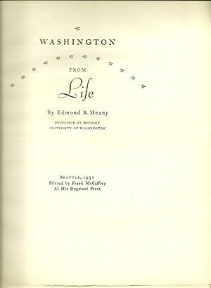 Washington From LIfe: Edward S. Meany