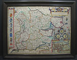 "MAP - ""Essex, divided into hundreds, with: Speede, John and"