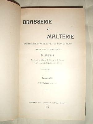 Brasserie et Malterie 8° année 1918-1919.: PETIT (Pierre)