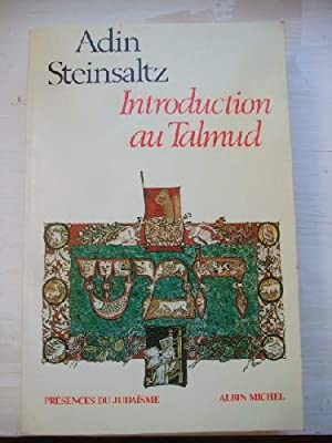Introduction au talmud adin steinsaltz