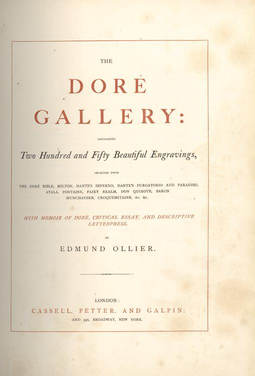 the dore gallery two hundred and fifty beautiful engravings  the dore gallery two hundred and fifty beautiful engravings selected from the dore