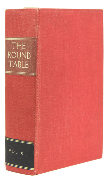 The Changing East. [In:] The Round Table, No. 40, for September 1920 [Lawrence, T.E.]