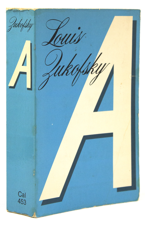 A Zukofsky, Louis First complete edition, wrappered issue. [vi], 826 pp. 8vo. A Hannakah Present from Ginsberg to Orlovsky. Inscribed on the half-title by Allen Ginsber
