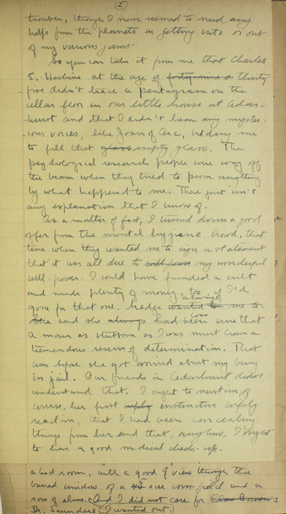 Autograph Manuscript of his novel, CHAMPAGNE CHARLIE by ...