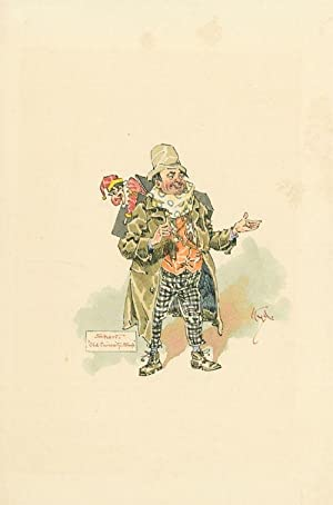"Original pen and watercolor portrait of ""Short"": Dickens, Charles) [Clarke,"
