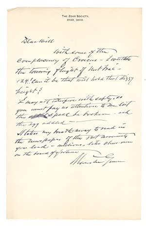 Collection of 36 Autograph Letters, signed, from Alexander Gunn to William C. Whitney, and 2 lett...