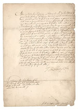 Document Signed. 1662 privy seal warrant issued to future Jamaican privateer and Speaker of the J...