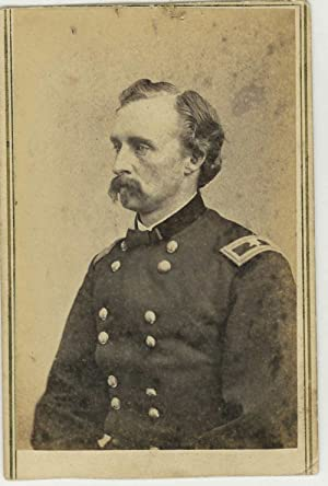 Carte de visite portrait photograph of George Armstrong Custer, in Civil War uniform: Custer, ...